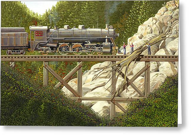 Railway Locomotive Greeting Cards - Mountain impasse Greeting Card by Gary Giacomelli