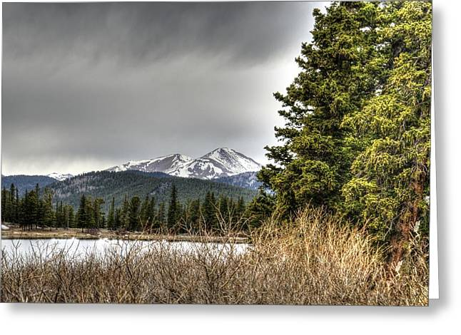 Snow Capped Greeting Cards - Colorado Mountain Lake 3 Greeting Card by William Morgan
