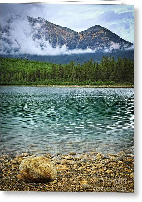 Jasper Greeting Cards - Mountain lake Greeting Card by Elena Elisseeva
