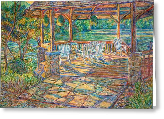 Nature Scene Pastels Greeting Cards - Mountain Lake Shadows Greeting Card by Kendall Kessler