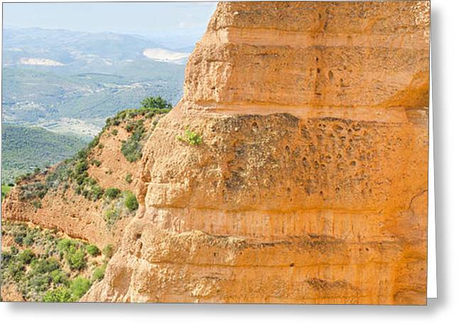 Outlook Greeting Cards - Mountain landscape Las Medulas ancient roman mines in Leon Spain Greeting Card by David Herraez