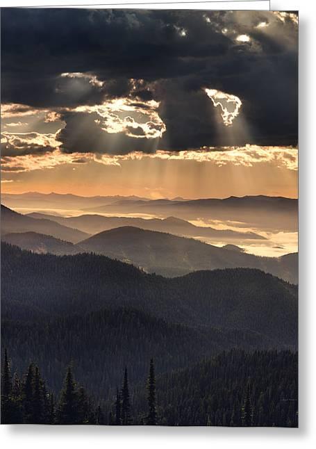 Idaho Greeting Cards - Mountain Layers Greeting Card by Leland D Howard