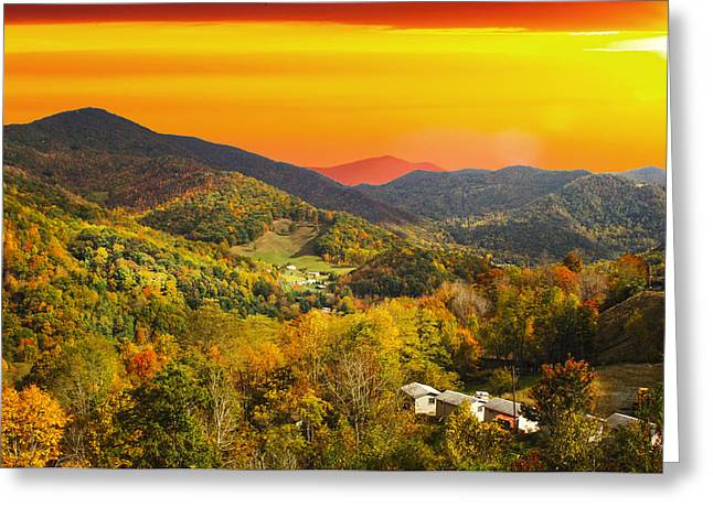 Farm Life Framed Prints Greeting Cards - Mountain Life at Sundown Greeting Card by Randall Branham