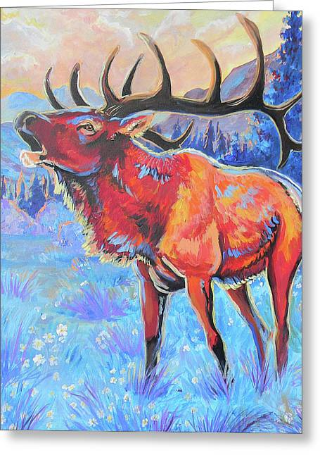 Jenn Cunningham Greeting Cards - Mountain Lord Greeting Card by Jenn Cunningham