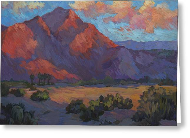 Mountain Valley Paintings Greeting Cards - Mountain Majesty Greeting Card by Diane McClary