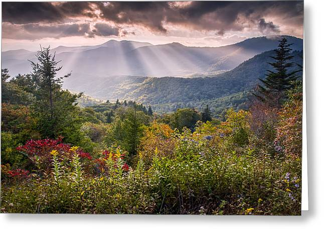 Red Leaves Greeting Cards - Mountain Majesty Greeting Card by Rob Travis