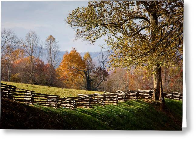 Mountain Meadow, Asheville, North Carolina Greeting Card by John Pagliuca