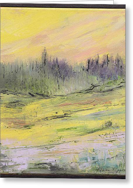 Pippen Paintings Greeting Cards - Mountain Meadow Spring Greeting Card by Jo-Anna Pippen