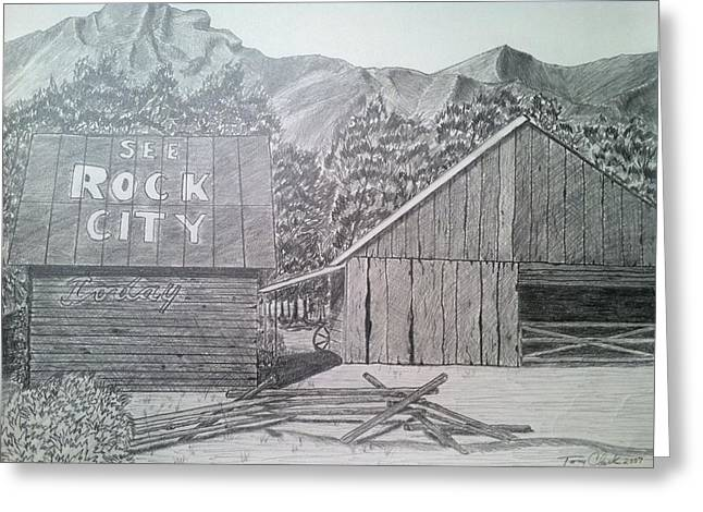 Tennessee Barn Drawings Greeting Cards - Mountain Memories Greeting Card by Tony Clark