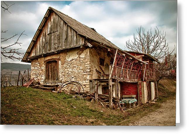 Wooden Building Greeting Cards - Mountain old lodge Greeting Card by Dalibor Brlek