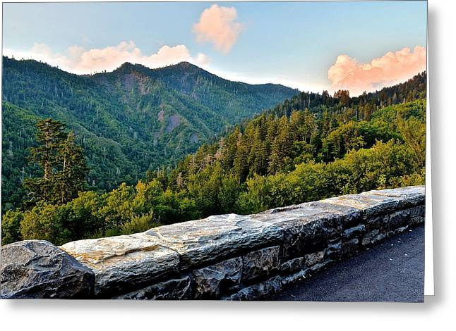 Mountain Overlook Greeting Card by Frozen in Time Fine Art Photography