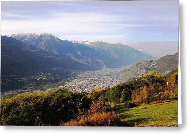 Giuseppe Epifani Greeting Cards - Mountain panorama Greeting Card by Giuseppe Epifani