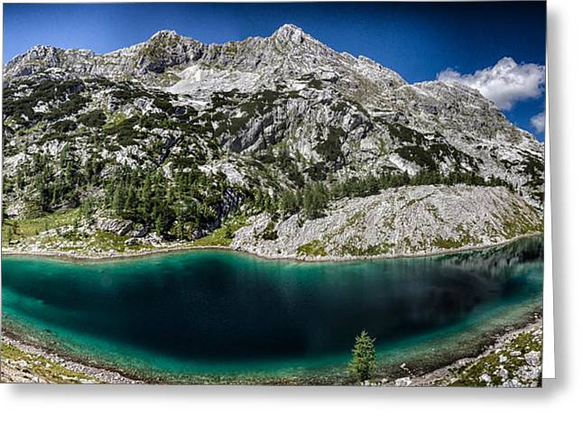 Mountain Valley Photographs Greeting Cards - Mountain Panorama Greeting Card by Ian Hufton