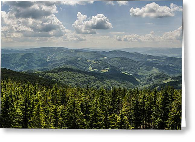 Hiking Greeting Cards - Mountain panorama Greeting Card by Jaroslaw Grudzinski