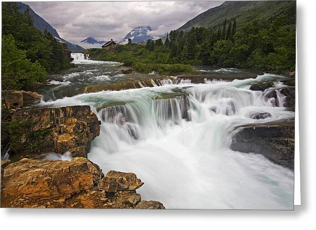 Many Glacier Greeting Cards - Mountain Paradise Greeting Card by Mark Kiver