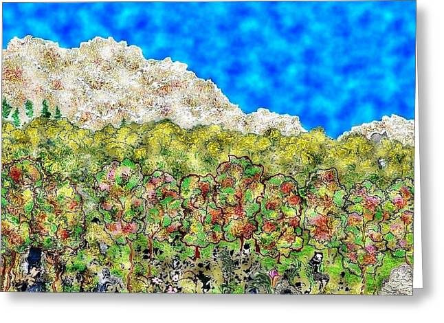 Caves Greeting Cards - Mountain Park Greeting Card by Christine Mulgrew