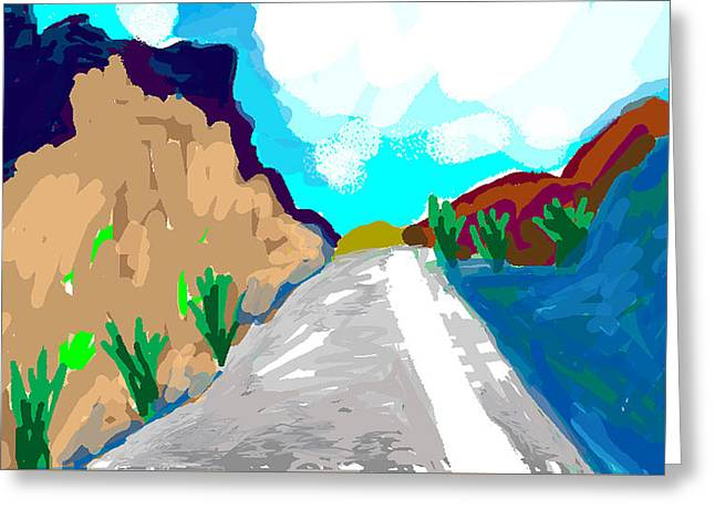 The Grand Canyon Drawings Greeting Cards - Road to Cochabamba Greeting Card by Paul Sutcliffe