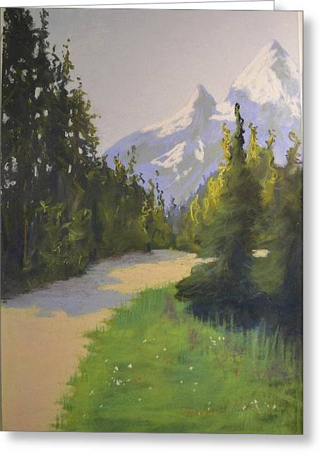 Mt Pastels Greeting Cards - Mountain Pater Greeting Card by Margaret Park