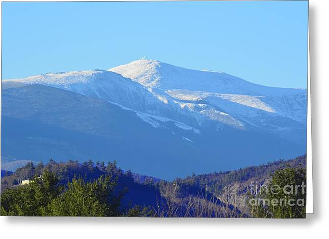 Outlook Greeting Cards - Mountain Peak Greeting Card by Tammie Miller