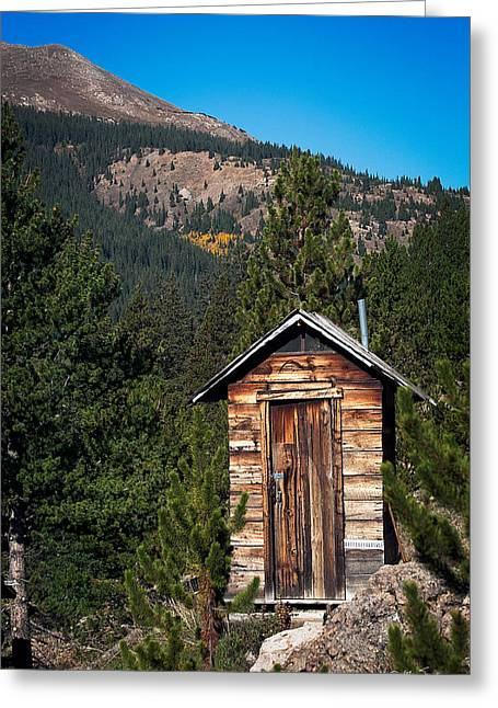 Mountain Privy Greeting Card by Julie Magers Soulen