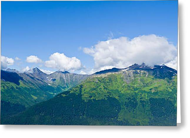 Geology Photographs Greeting Cards - Mountain Range, Chugach Mountains Greeting Card by Panoramic Images