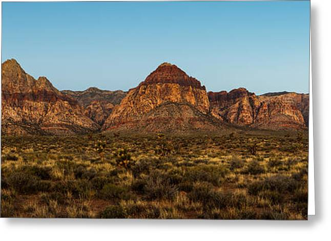 Mountain Valley Greeting Cards - Mountain Range in Red Rock Canyon Nevada Greeting Card by Susan  Schmitz