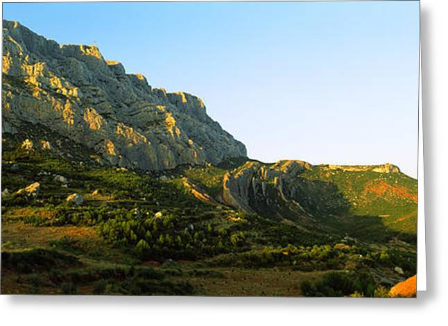 Victoire Greeting Cards - Mountain Range, Montagne Greeting Card by Panoramic Images