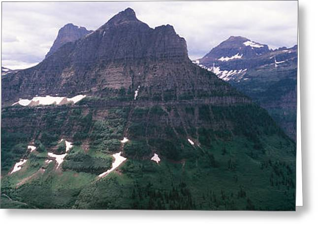 Mountain Range, Us Glacier National Greeting Card by Panoramic Images