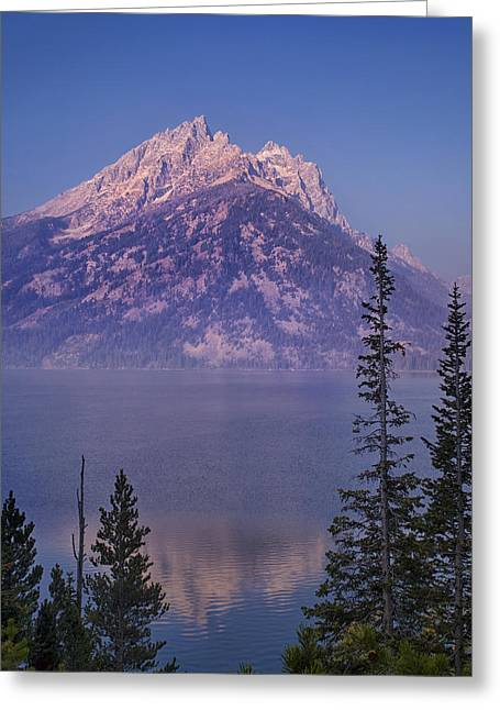 Pond Grand Tetons Greeting Cards - Mountain Reflection Greeting Card by Andrew Soundarajan