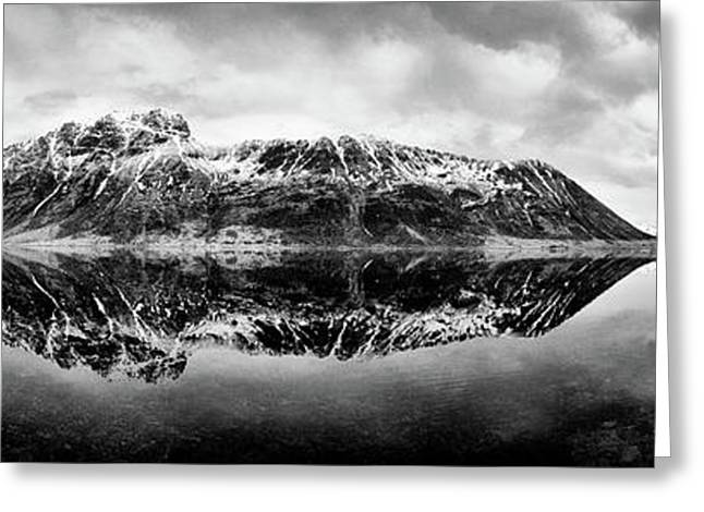 Arctic Circle Greeting Cards - Mountain Reflection Greeting Card by Dave Bowman