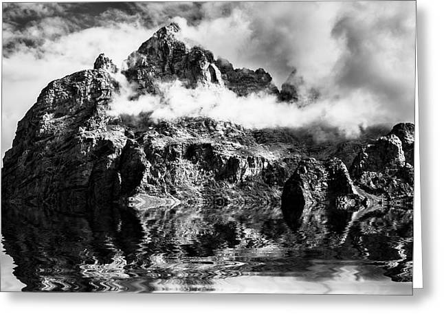 Mountain Reflection Lake Summit Mirror Greeting Cards - Mountain Reflection  Greeting Card by Krzysztof Wiktor