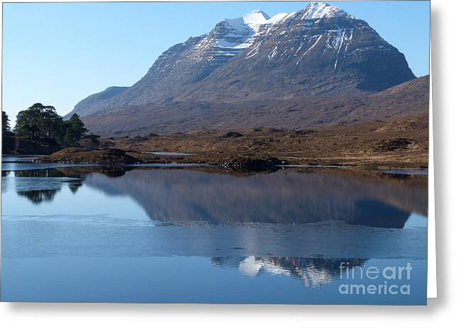 Torridon Greeting Cards - Mountain Reflection Greeting Card by Phil Banks