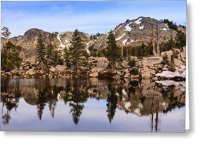 Tahoe National Forest Greeting Cards - Mountain Reflections Greeting Card by Karma Boyer