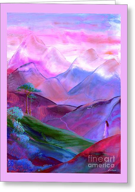 Mountain Reverence Greeting Card by Jane Small