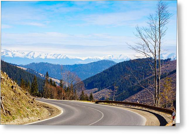 Mountain Road Greeting Cards - Mountain Road In A Valley, Tatra Greeting Card by Panoramic Images