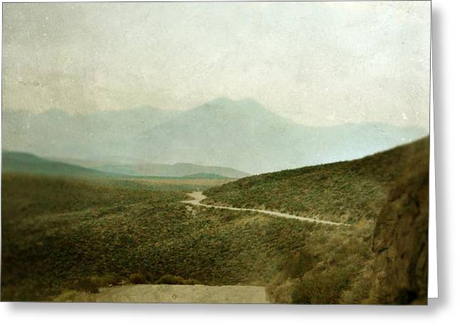Mountain Road Greeting Card by Jill Battaglia