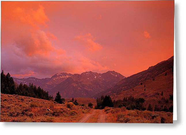 Mountain Road Greeting Card by Leland D Howard