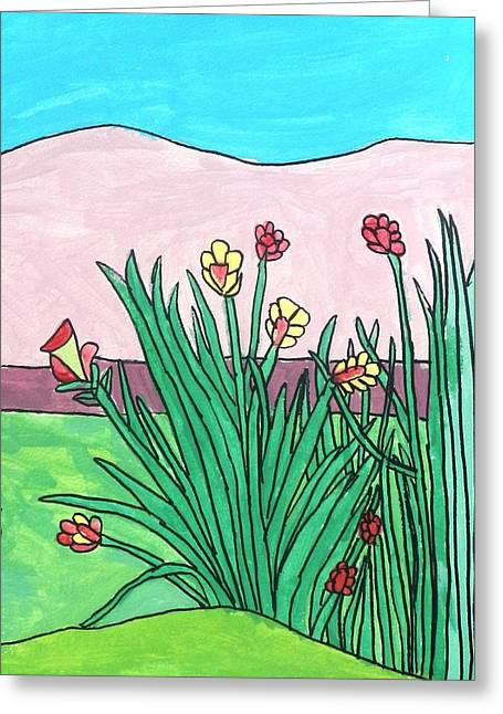 Brandon Drucker Greeting Cards - Mountain Roses Greeting Card by Brandon Drucker
