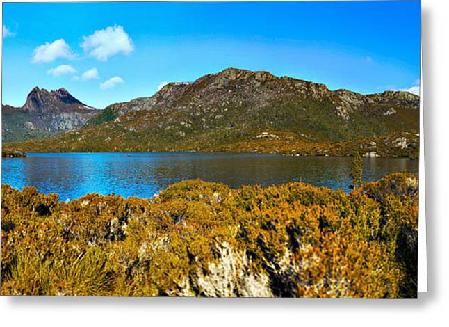 Cradle-mountain Greeting Cards - Mountain Scenery Greeting Card by Phill Petrovic