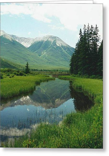 Serene Greeting Cards - Mountain Serenity Greeting Card by Shirley Sirois