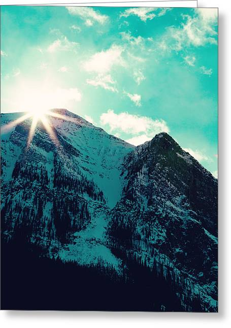 Fine Art Skiing Prints Greeting Cards - Mountain Starburst Greeting Card by Kim Fearheiley