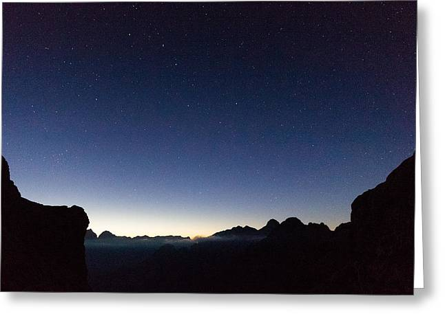 Mountain Valley Greeting Cards - Mountain Stars Greeting Card by Ian Hufton
