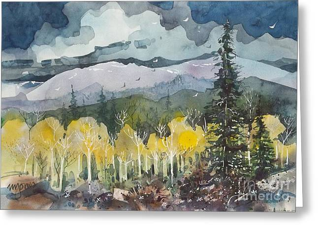 Mountain Storm Greeting Card by Micheal Jones