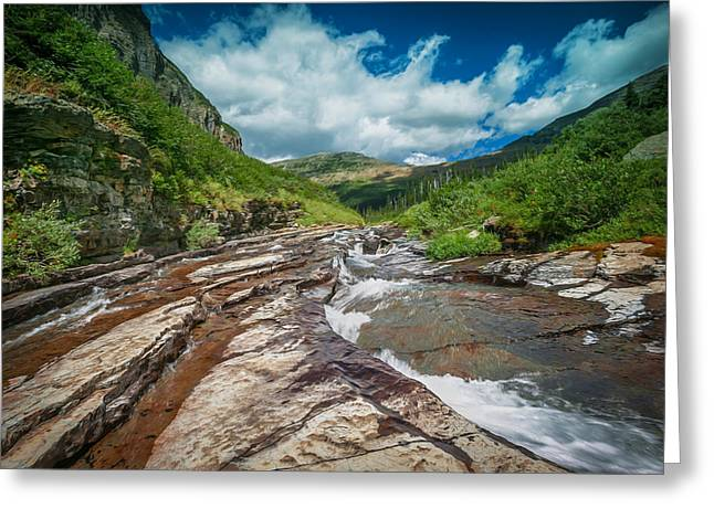 Clean Water Greeting Cards - Mountain Stream Glacier National Park   Greeting Card by Rich Franco