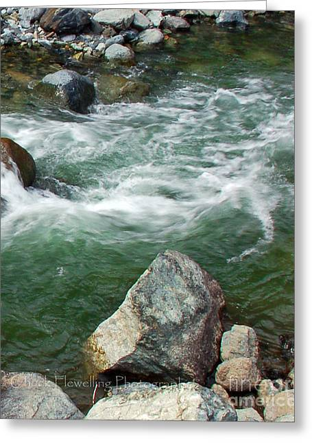Stream Greeting Cards - Mountain Stream III Greeting Card by Chuck Flewelling