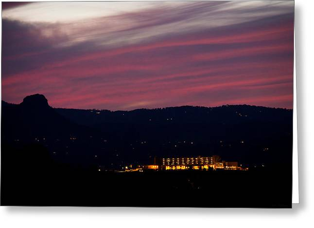 Prescott Greeting Cards - Mountain Sunset Greeting Card by Aaron Burrows