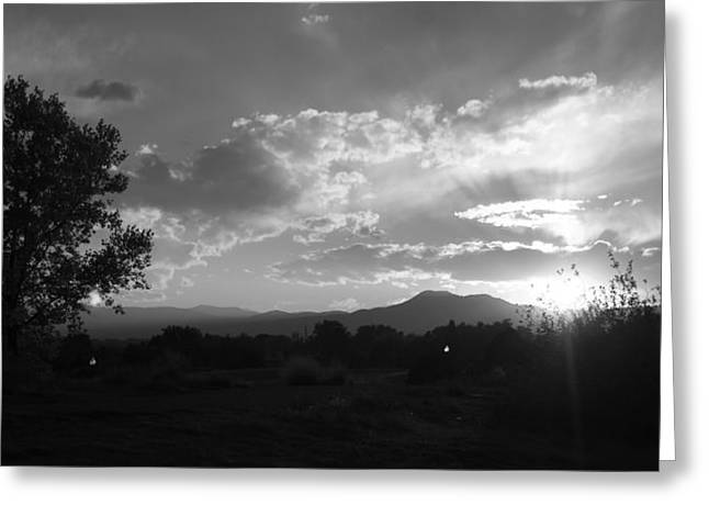Mountain Sunset Greeting Card by Tyler Cheshire