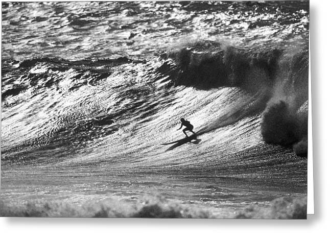 Surfing Art Greeting Cards - Mountain surfer Greeting Card by Sean Davey