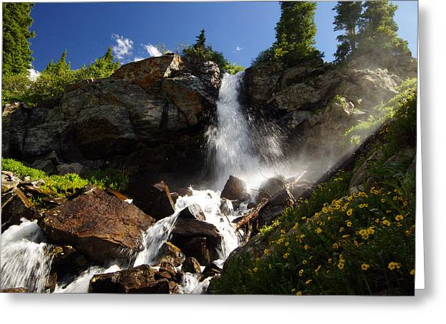 Jeremy Greeting Cards - Mountain Tears Greeting Card by Jeremy Rhoades