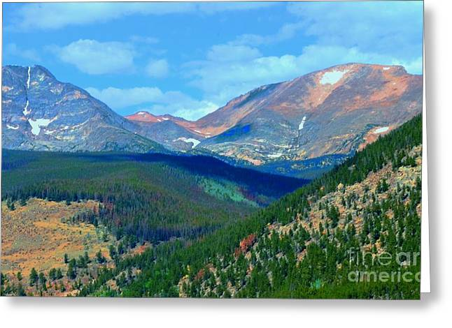 Rocky Mountain National Park Greeting Cards Greeting Cards - Mountain Top Color Greeting Card by Kathleen Struckle